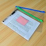 baotongle 50 PCS Clear Color Zip up PVC A4 Paper