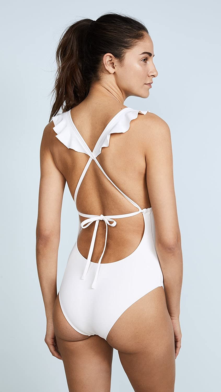 Eberjey Womens So Solid Grayson One Piece Swimsuit