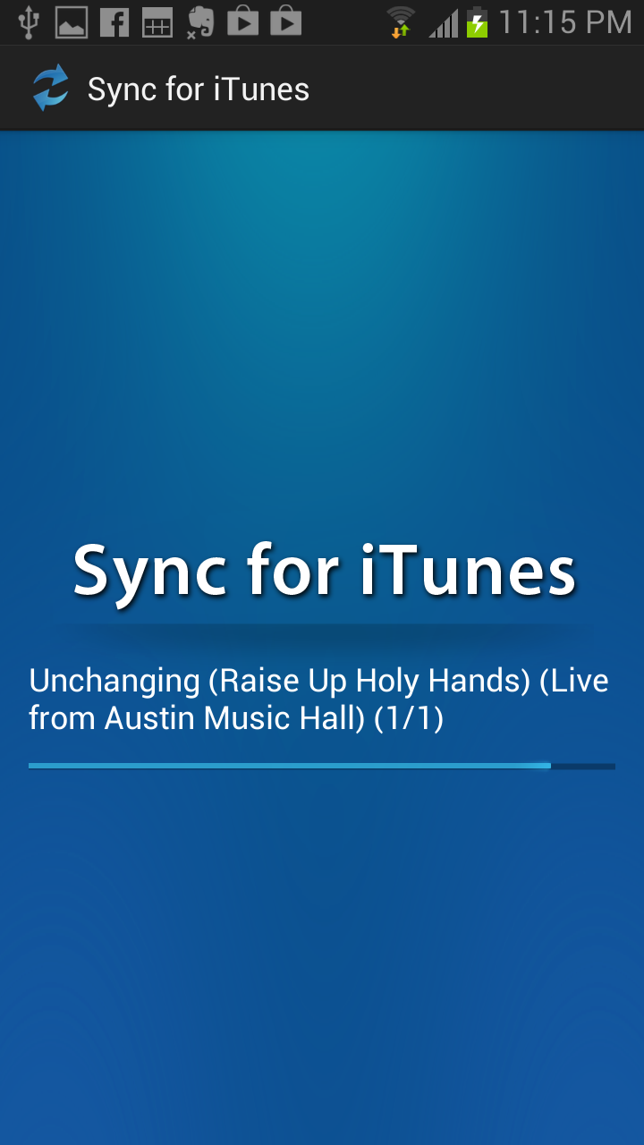 sync for itunes au appstore for android