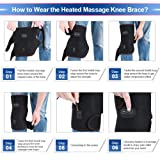 Heated Massage Knee Brace for Men and