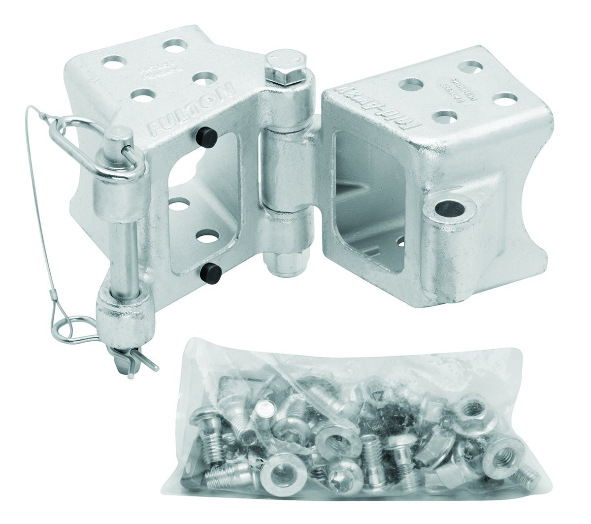 Fulton HDPB340101 Fold-Away Bolt-On Hinge Kit for 3'' x 4'' Trailer Beam - up to 7,500 lb. GTW