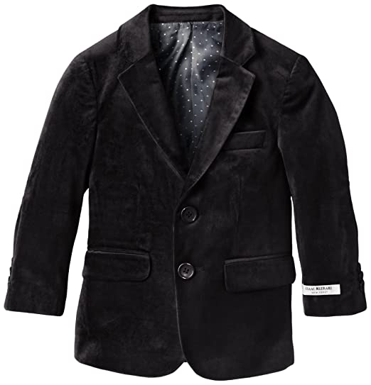 Isaac Mizrahi Little Boys' Single-Breasted Velvet Blazer
