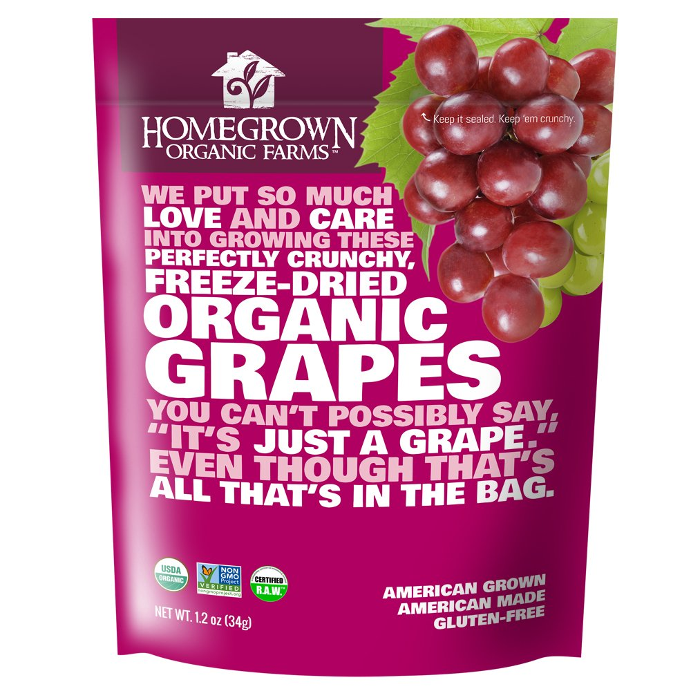 Homegrown Organic Farms Freeze Dried Grapes 1.2 oz
