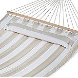 AmazonBasics Pillow Top Hammock, Grey and White