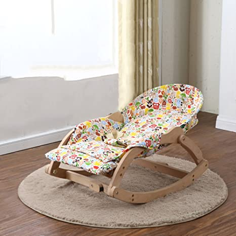 LZTET Baby Rocking Chair Reclining Chairs Soothing Vibration Comfort Chair  Child Rocking Cradle BB Cradle Bed
