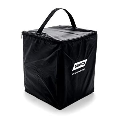 Camco Replacement Storage Bag for RV Leveling Blocks - Holds up to (10) 8-inch x 8-1/2-inch RV Leveling Blocks - Features a Sturdy Zipper Closure and Carrying Handle (44508): Automotive