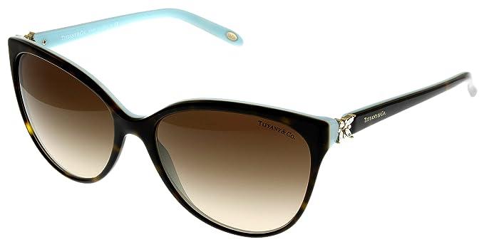 ae357b4d07c Amazon.com  Tiffany   Co Sunglasses Womens Tortoise Butterfly ...