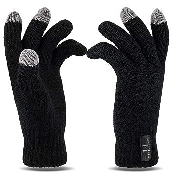 35fce1de9961a0 Tarjane Display Touchscreen Winterhandschuhe Damen Handschuhe Strick Gloves  extra warm TOG 1.9 Schwarz OneSize