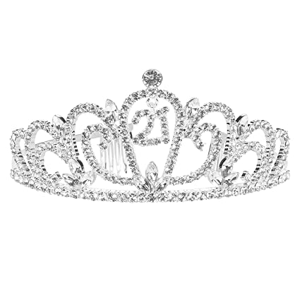 Tiara de cumpleaños con diamantes de imitación, diadema ...