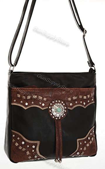 41784c7d56 Concealed Carry Purse - RIGHT- AND LEFT-HAND TOP DRAW - LARGE CROSSBODY  (BLACK BRN)  Handbags  Amazon.com