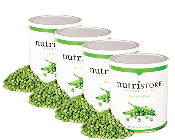 Nutristore Freeze Dried Green Peas (4 pack of #10 cans). Healthy whole food snacks for toddlers, school lunches or cooking: Amazon.ca: Grocery