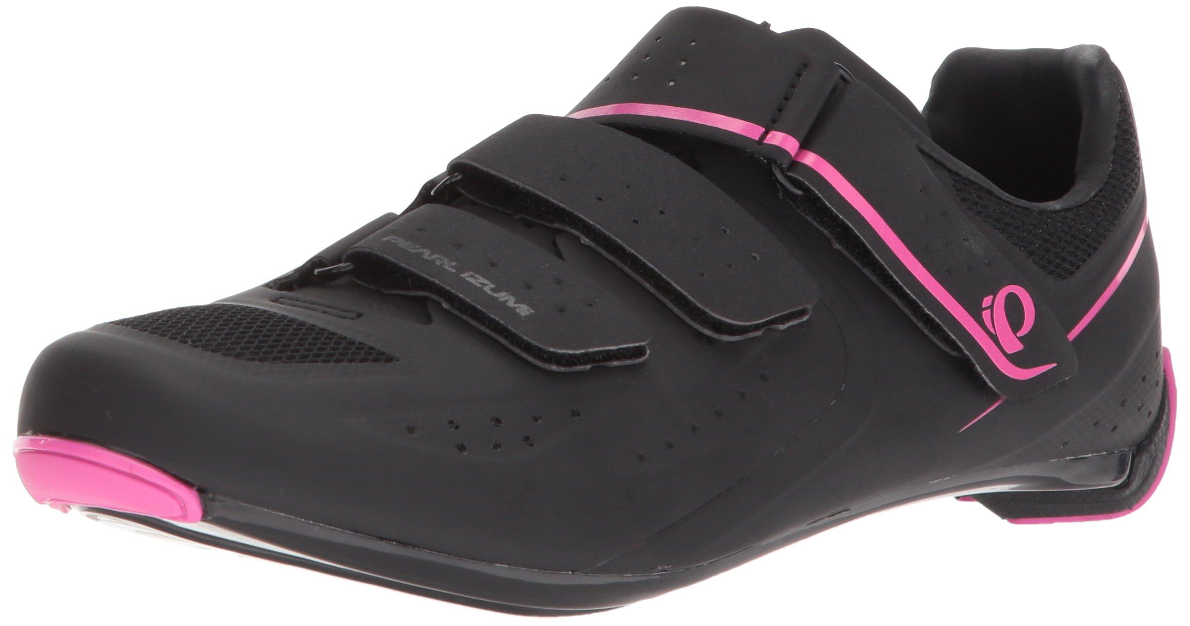 Pearl Izumi Women's W Select Road v5 Studio Cycling Shoe, Black/Black, 38.0 M EU (6.8 US)