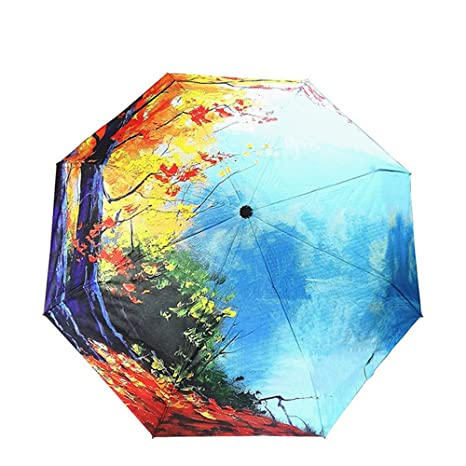 Como la lluvia arte Sakura paraguas mujer paraguas plegable lluvia mujeres viento de alta calidad anti