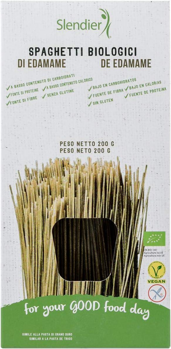 Slendier Espaguetis de Edamame BIO sin gluten, pasta hipocalórica - Slendier - 200g