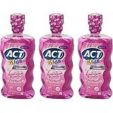 ACT Kids Anticavity Fluoride Rinse, Bubblegum Blowout, 16.9 oz (Pack of 3)