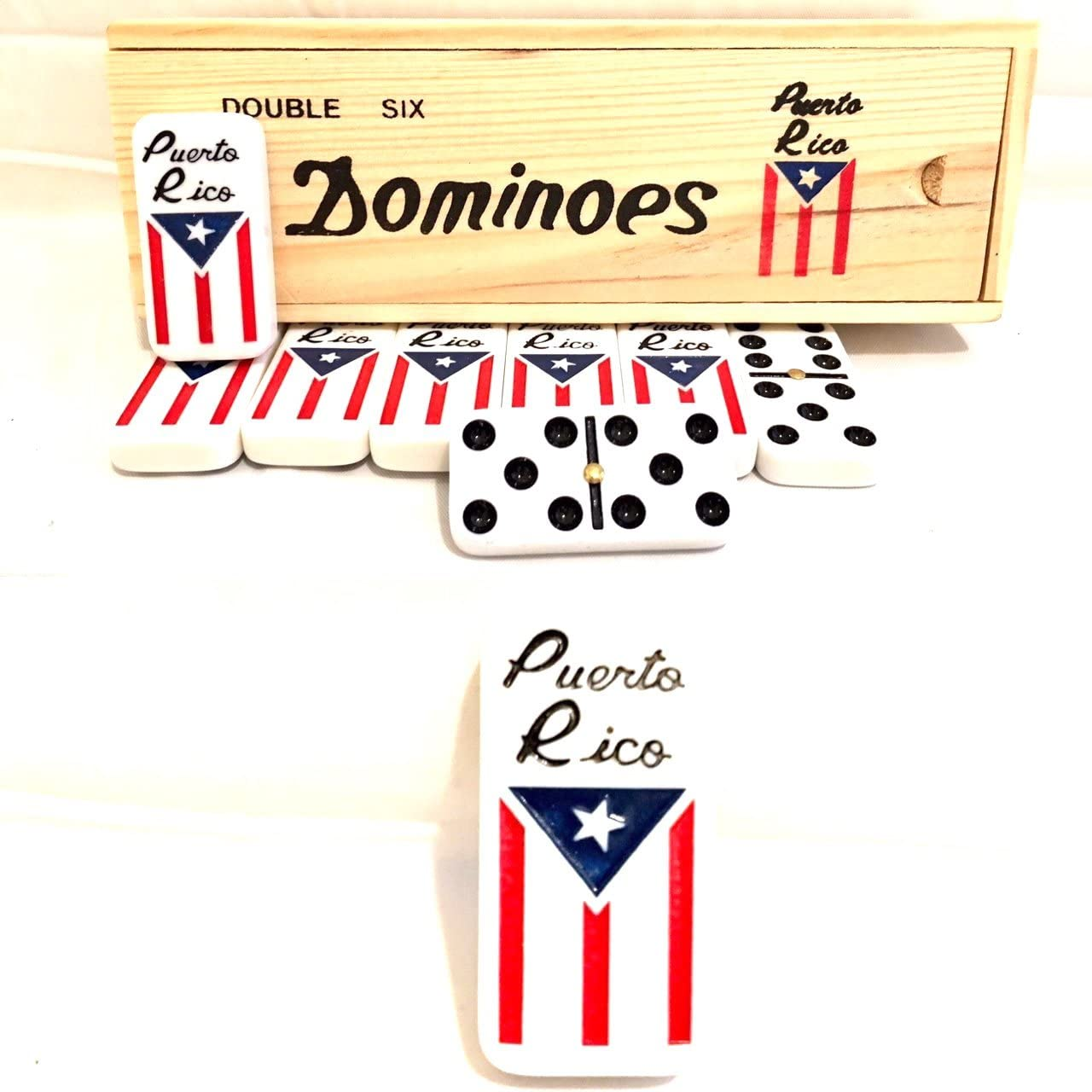 Puerto Rico Dominoes Puerto Rican flag Dominoes set, Boricua pride dominoes