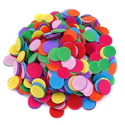 100 piezas de varios colores Círculos de fieltro almohadillas de fieltro para DIY Costura y artesanías