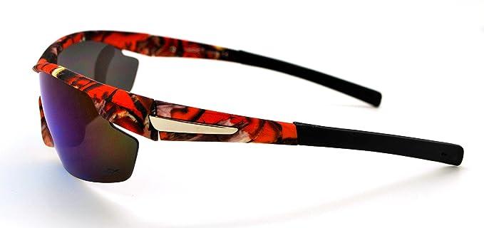 Vertx leggero durevole da uomo e da donna Athletic sport Wrap occhiali da caccia pesca W/free custodia in microfibra White Camo Frame - Smoke Lens Pu0r9HHJkQ