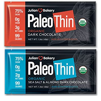 Amazon.com: Paleo Thin® Keto Dark - Barras de chocolate ...