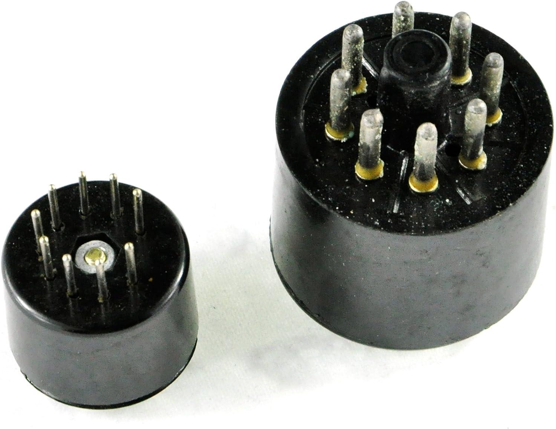 Cary Bakelite Vacuum Tube Saver Socket Testing 1pc 9pin Fr 12ax7 + 1pc 8pin Octal DIY