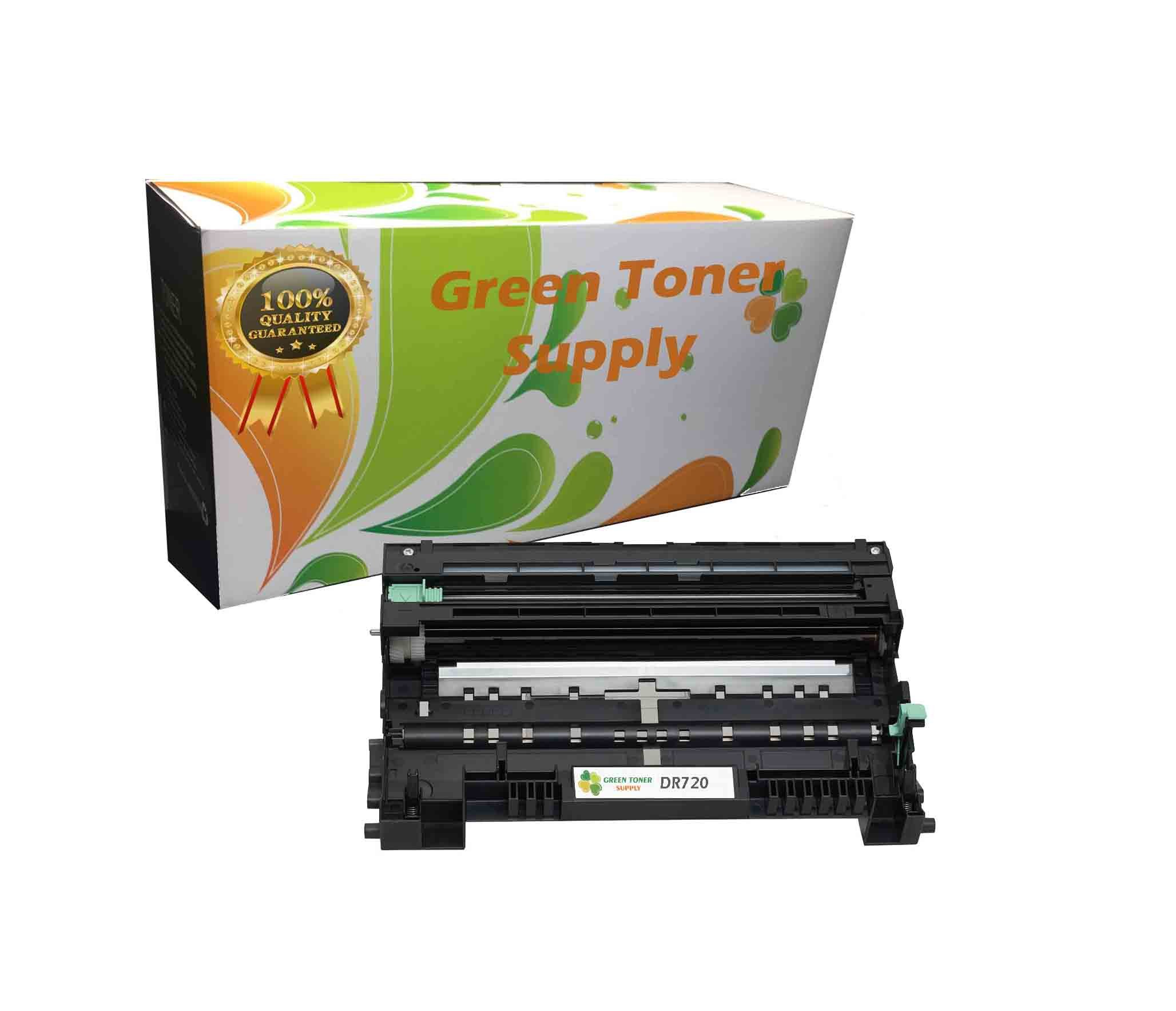 Green Toner Supply Compatible Drum Cartridge Replacement for Brother DR720 (Black, 1-Pack)