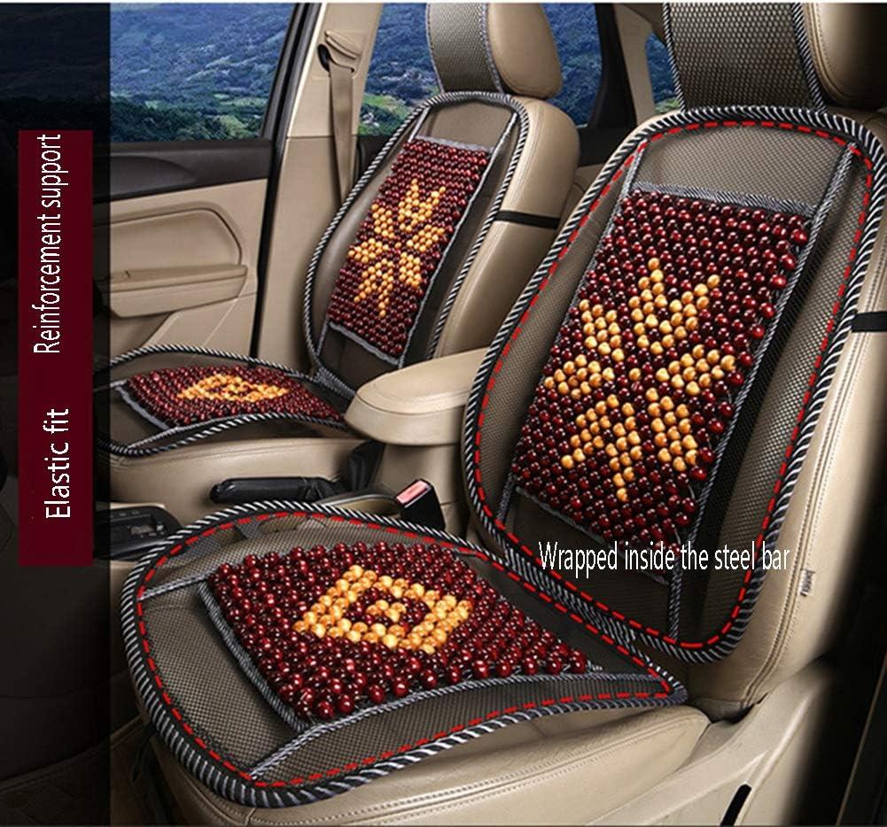 Jiang Hui Wooden Bead Beaded Massaging Car Van Seat Cover Cushion 45 x 130CM