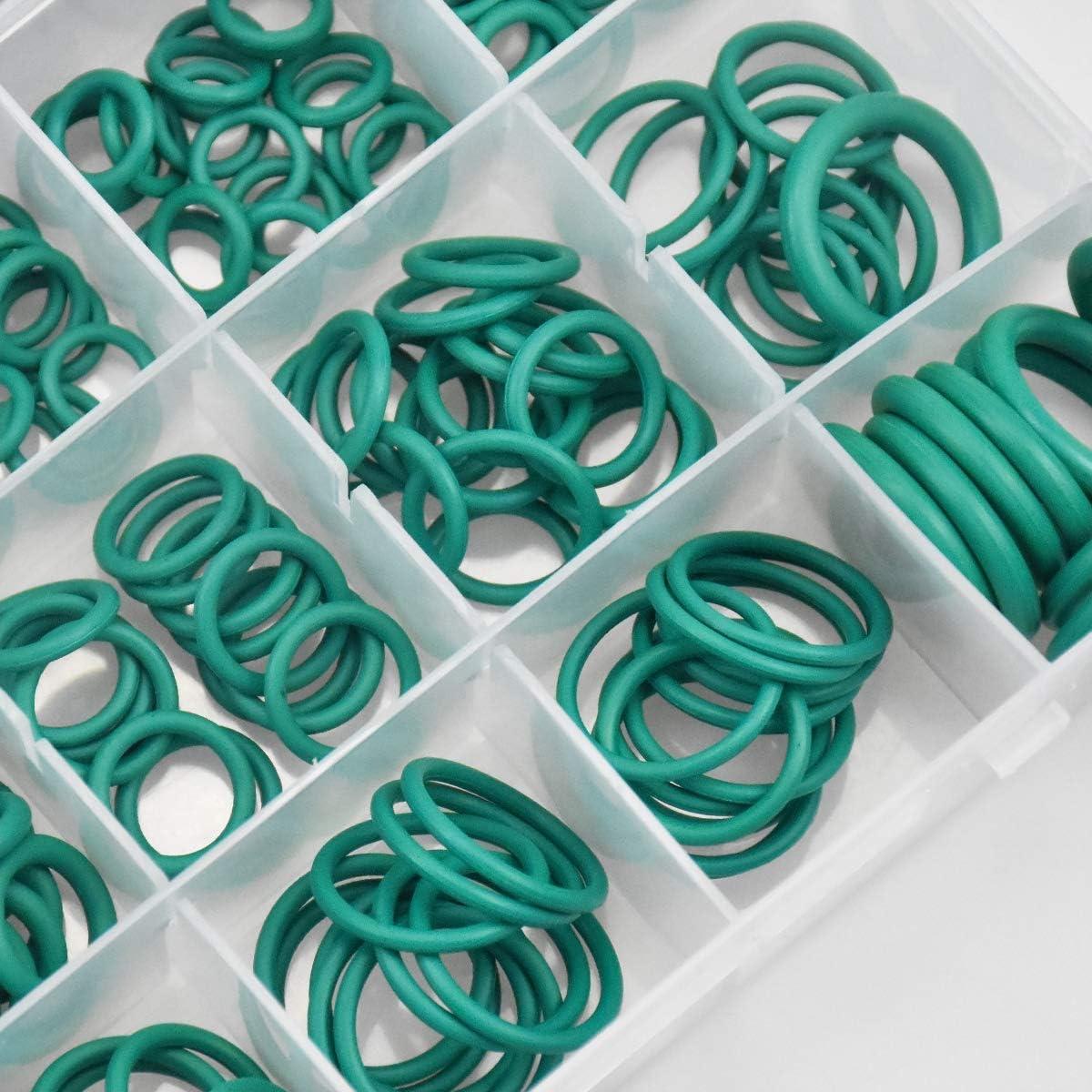 Gomma nitrile Guarnizione O-Ring Kit Guarnizioni Set Gomma Idraulico Sanitari Guarnizioni Guarnizione Assortimento Kit Rondelle di tenuta Kissral 270 Pezzi O-Ring Assortimento Kit