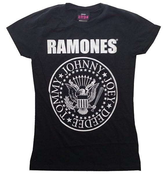 1710fd402 RAMONES - Presidential Seal - Black Women's / Girls T-shirt (Girlie /  Babydoll