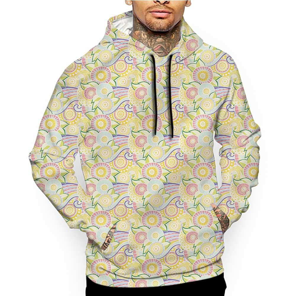 colerapee Hoodies Sweatshirt/Men 3D Print Abstract,Murky Geometric Sketch,Sweatshirts for Teens