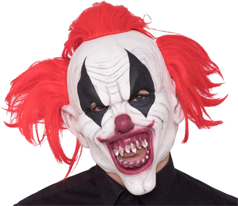 TK Gruppe Timo Klingler Máscara de Horror de Halloween de 18 años para Hombres y Mujeres, con Disfraz de Traje de Payaso de látex Rojo.