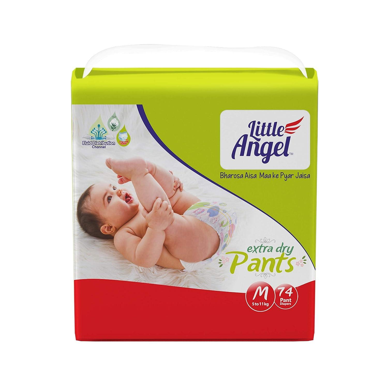 Little Angel Baby Diaper Pants, Medium (74 Count)