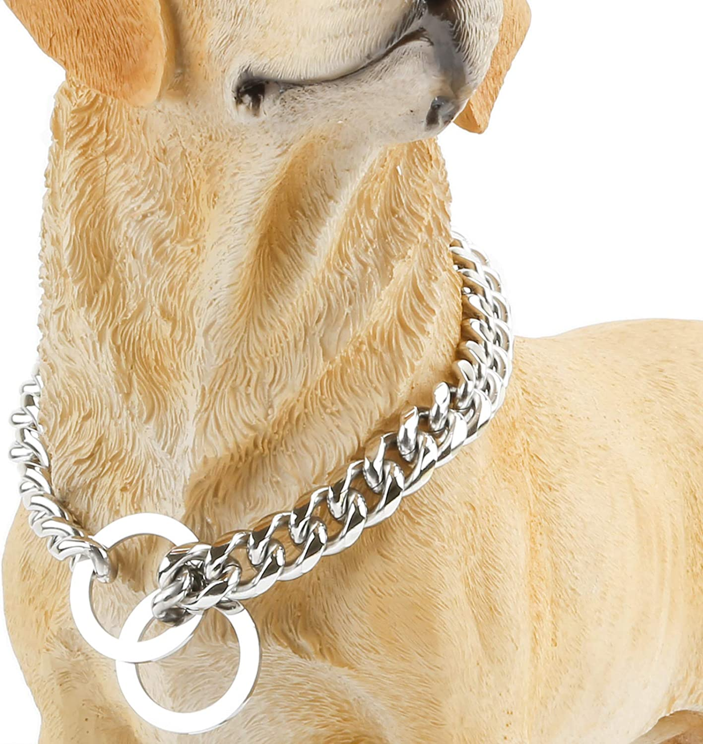 12//15mm Width 10-26 Long rulahomeware Heavy Thick Dog Gold Chain Gold Chain for Dogs Cool Style,Curb Link Dog Collar Collar de perro Dorado,Collar de perro