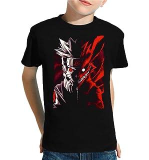Camiseta de NIÑOS Naruto Manga Anime Shuriken Sasuke Kakashi 027: Amazon.es: Ropa y accesorios