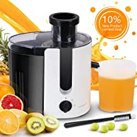 Aigostar Grape - Wide Mouth Juicers, Dual Speed Vegetable and Fruit Juicer Extractor, Centrifugal Juicer Machine Easy Clean for Celery, Whole Fruit, Anti-drip, Stainless Steel and BPA-Free