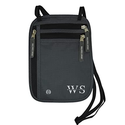 Bolsa de cuello cuello cartera bolsa y Porta pasaporte de viaje y para documentos de viaje