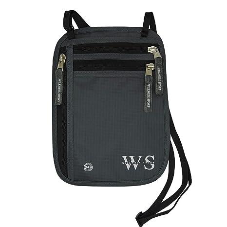 Bolsa de cuello cuello cartera bolsa y Porta pasaporte de viaje y para documentos de viaje y RFID bloqueo y resistente al agua - viaje bolsa de ...