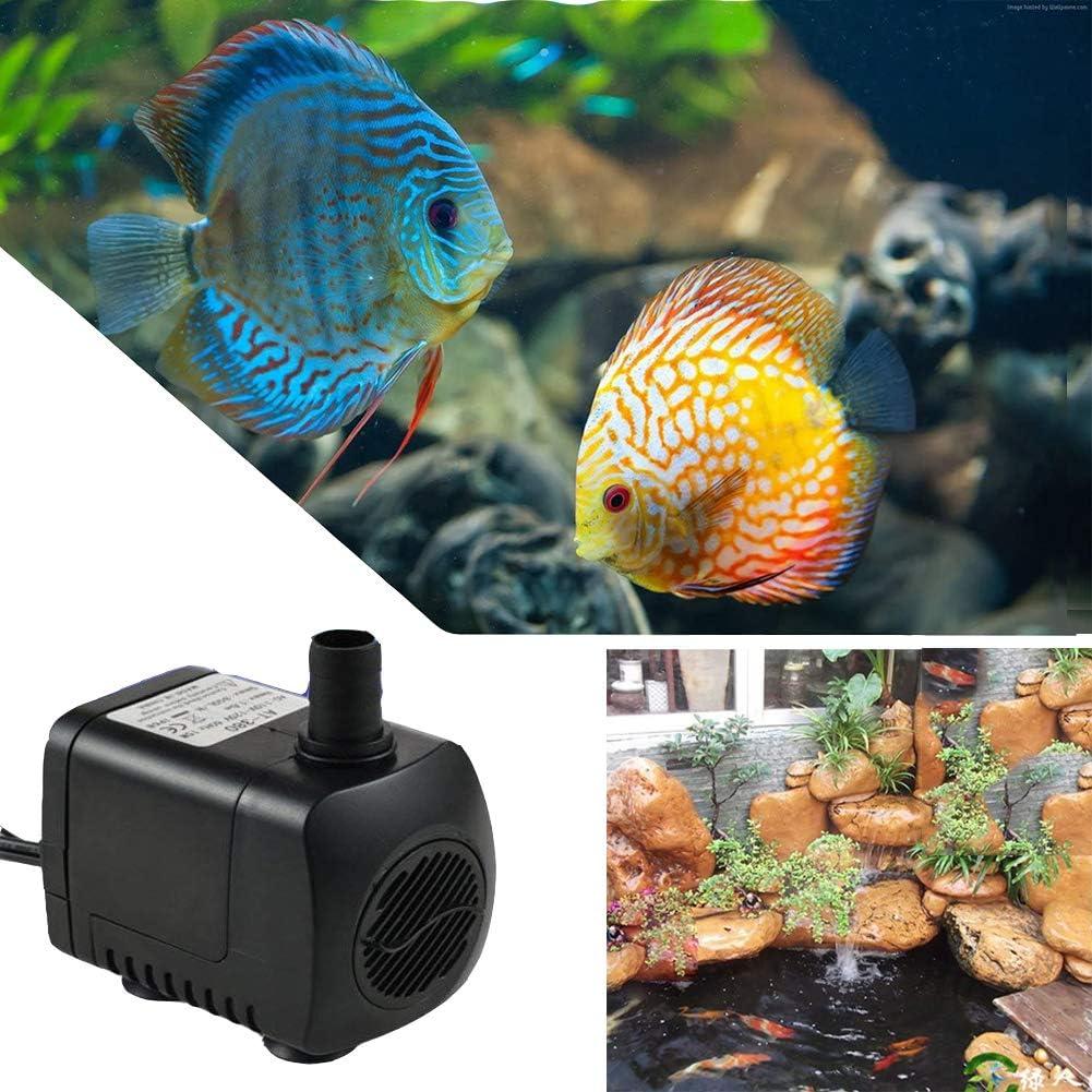 Sistemi di Circolazione Serbatoio di Pesci Laghetto HOTSO Mini Pompa Acqua Sommergibile con 12 Luce di Colore LED 10W Ultra-Silenzioso 800L// H Pompa Fontana Acquario per Terrari