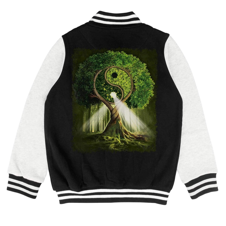 Kids The Mountain Yin Yang Tree Girls Jacket for Girls Boys Cool Warm Coats
