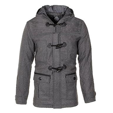 Soulstar Men S Designer Pu Panel Hooded Wool Jacket Classic Winter