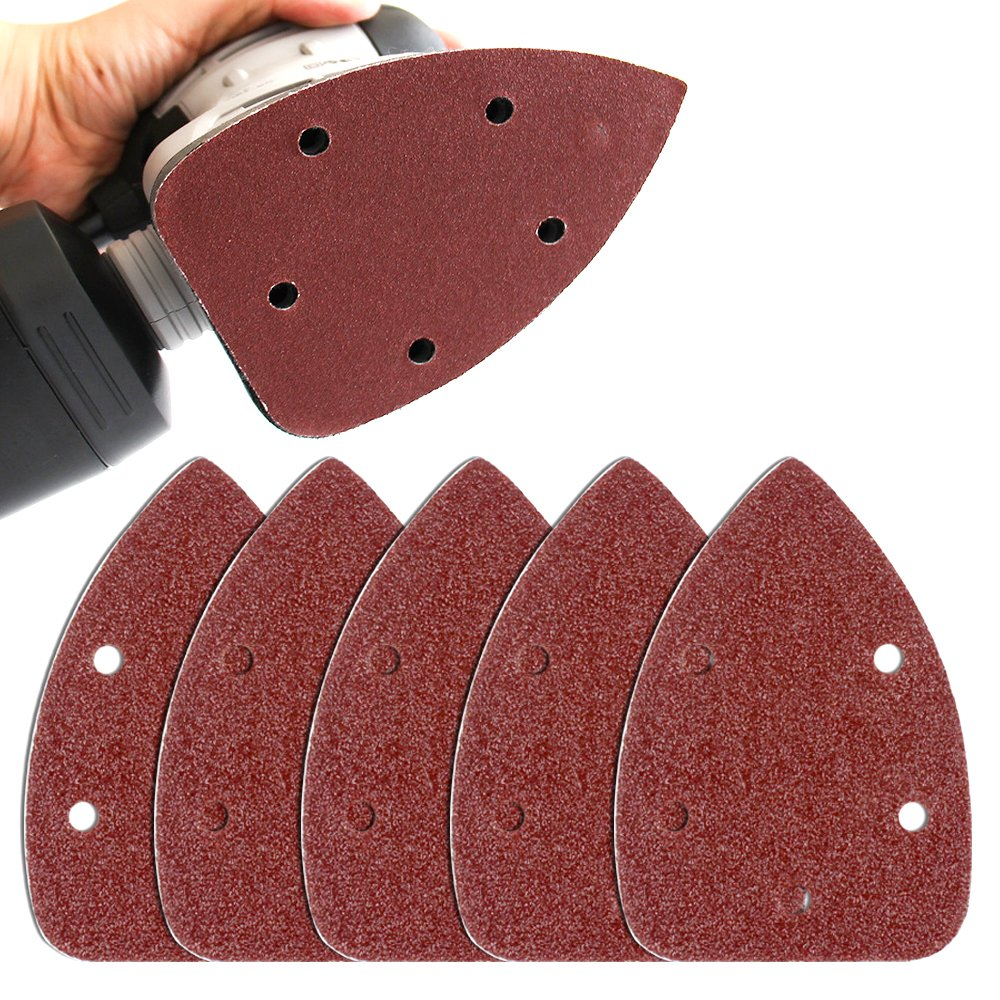 50PCS 80 Grits Mouse Detail Sander Coceca Sanding Discs Sandpaper for Power Random Orbit Sanders /…