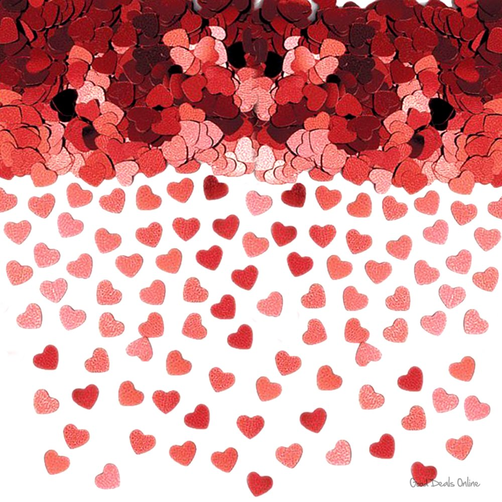 valentines day red hearts hanging string decorations x 6 amazon