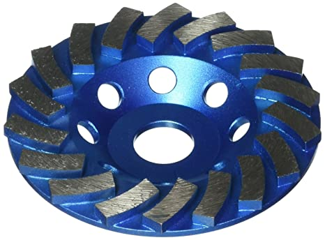 "5"" Turbo Diamond Cup Wheel for Concrete Stone Masonry Grinding 5//8""-11 Arbor"
