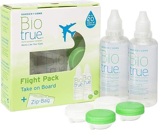 BAUSCH + LOMB - Biotrue® Solución Única - Kit viaje Pack 2 botellas x 60 ml: Amazon.es: Salud y cuidado personal