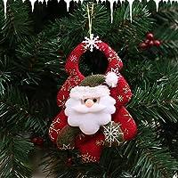 Formulatoom Nuevos Accesorios para árboles de Navidad Sin Tejidos Muñeca de Navidad Realista Linda Decoraciones navideñas Baile Noche Regalos Colgantes