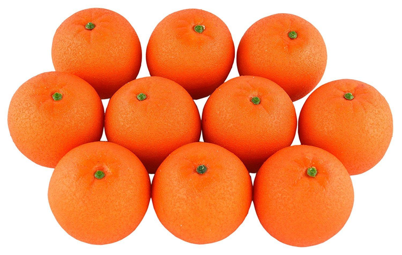 100Künstliche Lebensechte Simulation Orange Set Fake Fruit für Home House Kitchen Party Dekoration Samyo