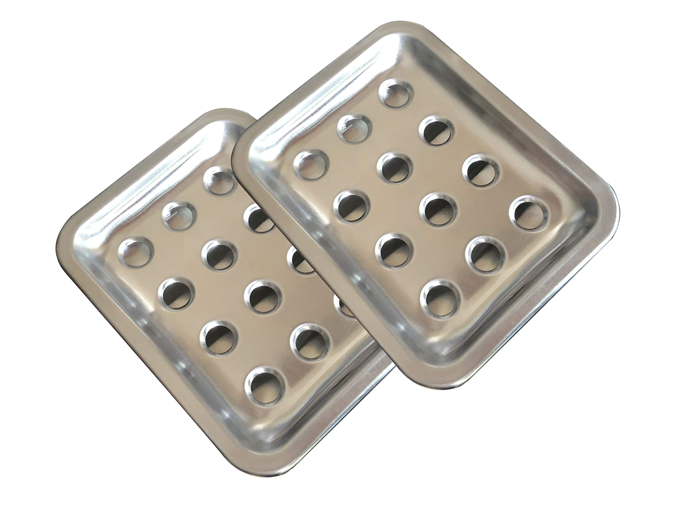 Blacksail 2-Pack Large Size Stainless Steel Bar Soap Dish Holder with Draining Tray for Bathroom Shower