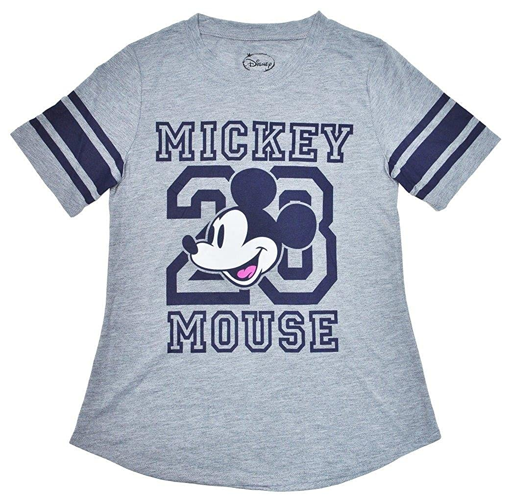e26836117 Amazon.com: Disney Womens Fitted T-Shirt Mickey & Minnie Mouse Football  Athletic Jersey: Clothing