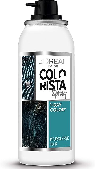 LOréal Coloracion Temporal Spray 7-Turquoise Tinte - 60 ml ...