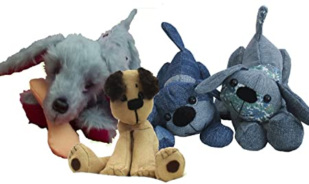 Pack of three playful, fun soft toy dog sewing patterns. Puppy dog ...
