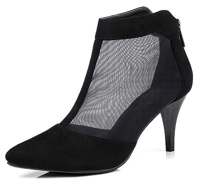 Amazon Com Lizform Women Pointed Toe Low Heel Pumps Comfortable